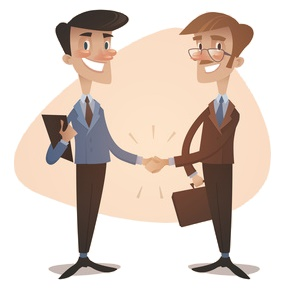 Accountant and Business Client Handshake