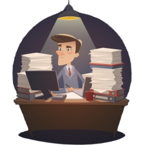 Bookkeeper Burning Midnight Oil